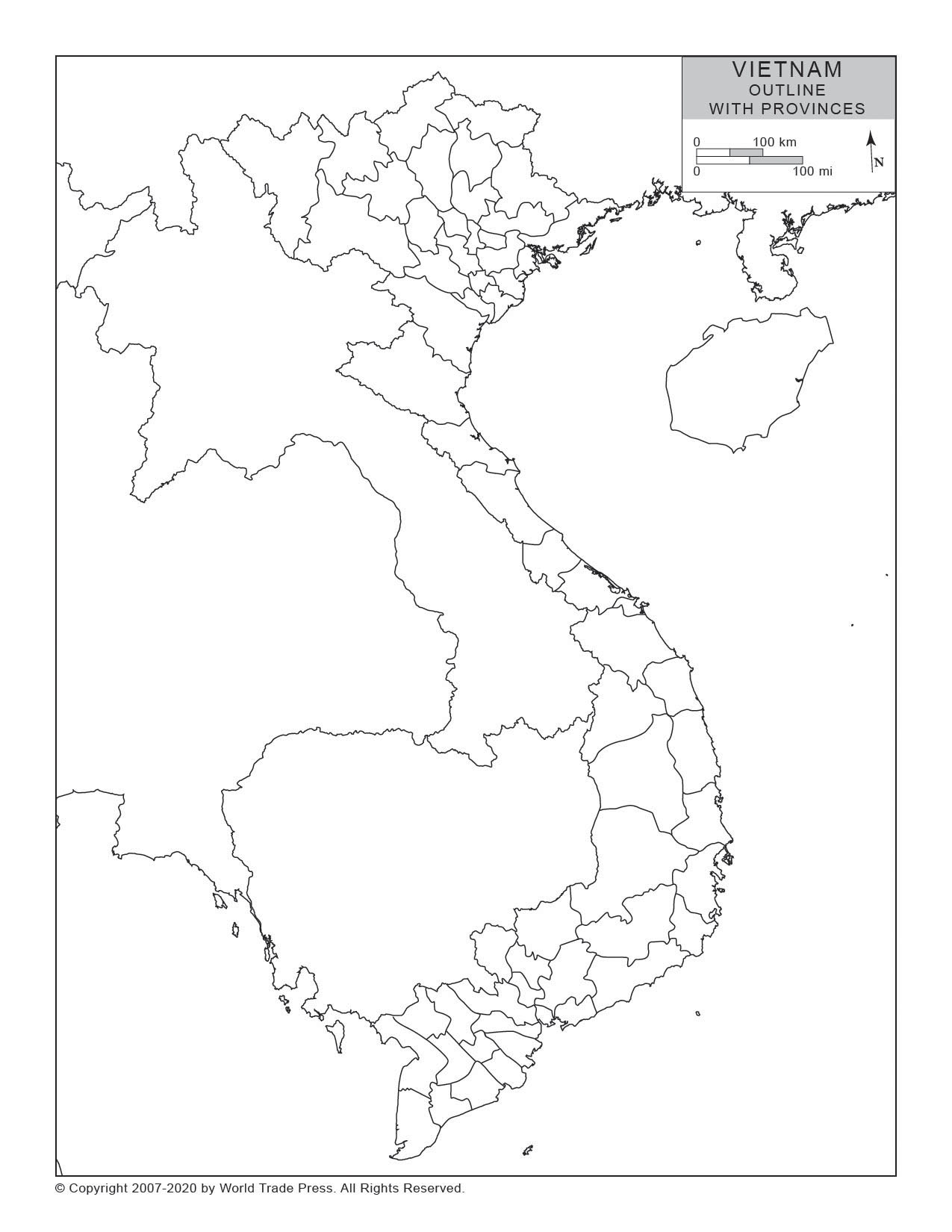 Outline with Provinces Map