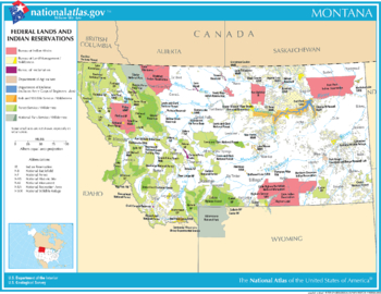 <p>2003 Map of Montana - Federal Lands and Indian Reservations</p>