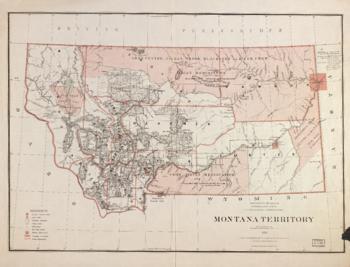 1879 Map of Montana
