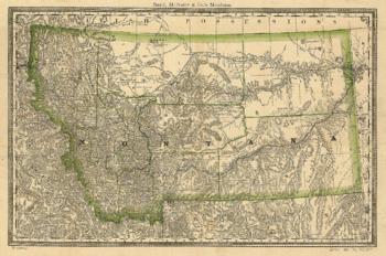 1881 Map of Montana